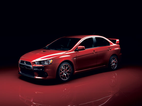 The latest car - the Mitsubishi Evolution X.