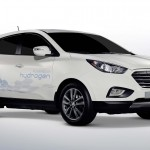 The Hyundai Hydrogen ix35 Fuel Cell car - expected to go on sale in 2015.