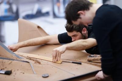 Aston Martin clay sculpting