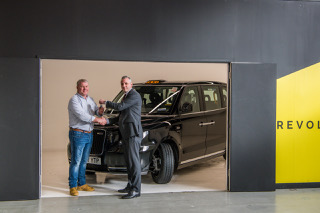 First Set Of Keys Handed Over For Brand New TX Electric Taxi