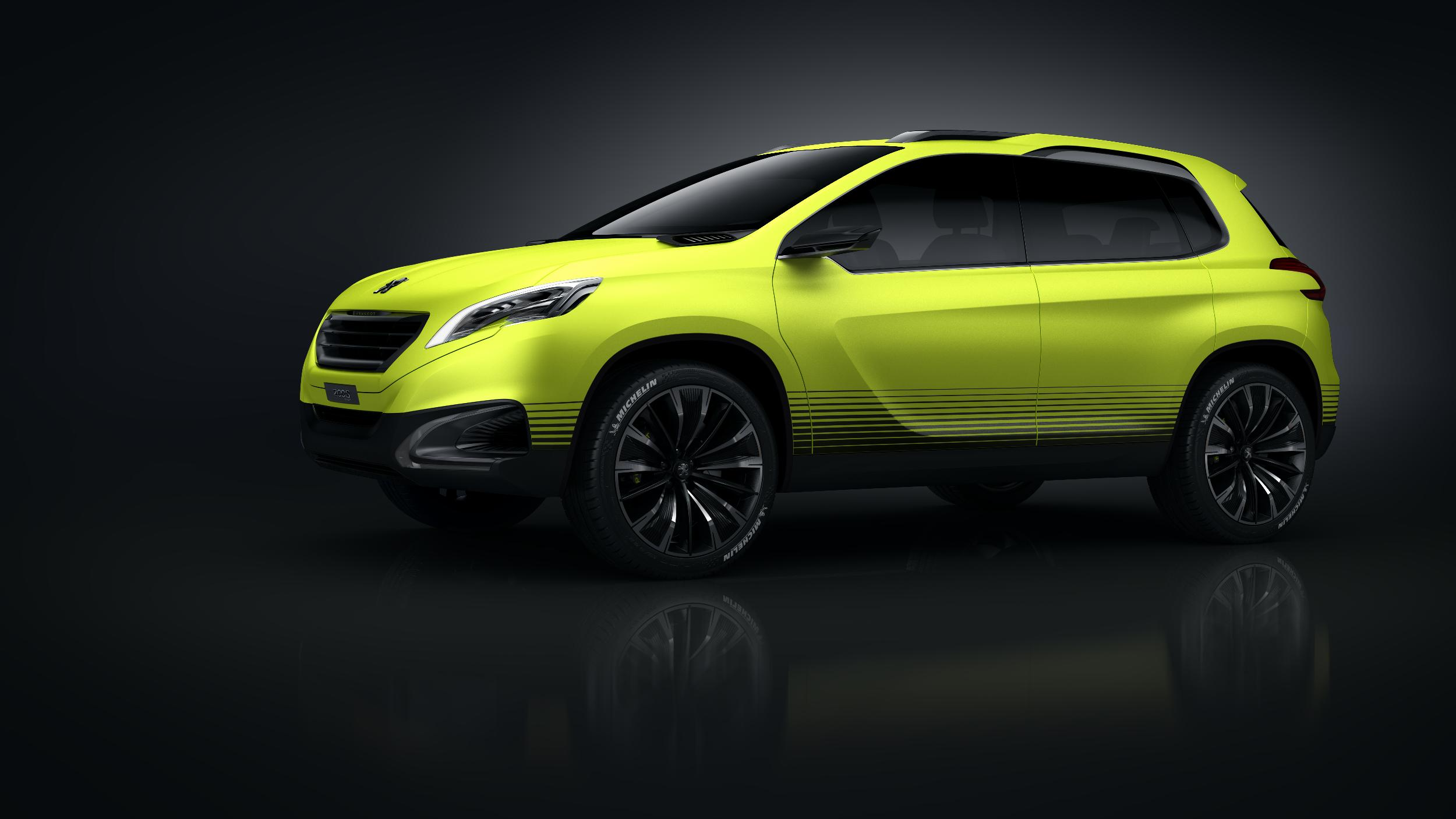 peugeot 2008 concept shows something new but it is a crossover. Black Bedroom Furniture Sets. Home Design Ideas