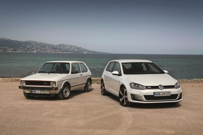 Volkswagen Golf GTI Mk1 and Mk7