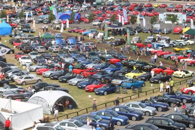 Car Club display at Silverstone Classic