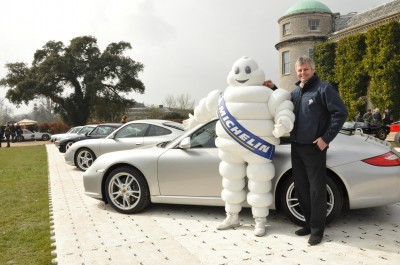 Tim Harvey with the Michelin Man